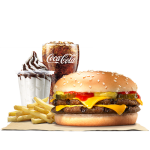DEAL: Burger King – $7.50 Double Cheeseburger Stunner Meal