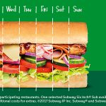 DEAL: Subway – $4.90 Sub of the Day
