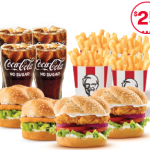 DEAL: KFC $25 Surf Safe Value Burger Bundle