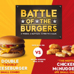 DEAL: McDonald's – $5 Double Cheeseburger or 6 Nuggets Small Combo (25-28 February 2019)