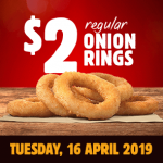 DEAL: Burger King App – $2 Onion Rings (16 April 2019)