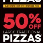 DEAL: Domino's – 60% off Gourmet Pizzas, 50% off Traditional Pizzas, 40% off New Yorker Pizzas (22-31 July 2019)