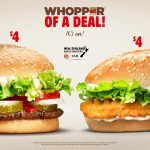 DEAL: Burger King – $4 Whopper or $4 BK Chicken (until 31 August 2019)