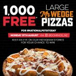 DEAL: Domino's – 1,000 Free Mr Wedge Pizza Giveaway (19 August 2019)