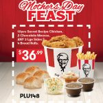 DEAL: KFC $36.99 Mother's Day Feast – 10pcs Chicken, 2 Chocolate Mousse, 3 Large Sides, 4 Bread Rolls