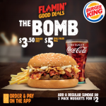 DEAL: Burger King – $5 The Bomb Small Value Meal
