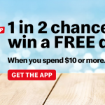 DEAL: McDonald's – 1 in 2 Chance to Win a Free Dessert with $10 Spend with App