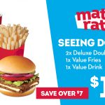 DEAL: Wendy's – $12.90 Seeing Double (2 Deluxe Double Stackers, Value Fries, Value Drink)