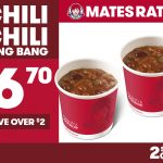 DEAL: Wendy's – 2 Small Chilis for $6.70